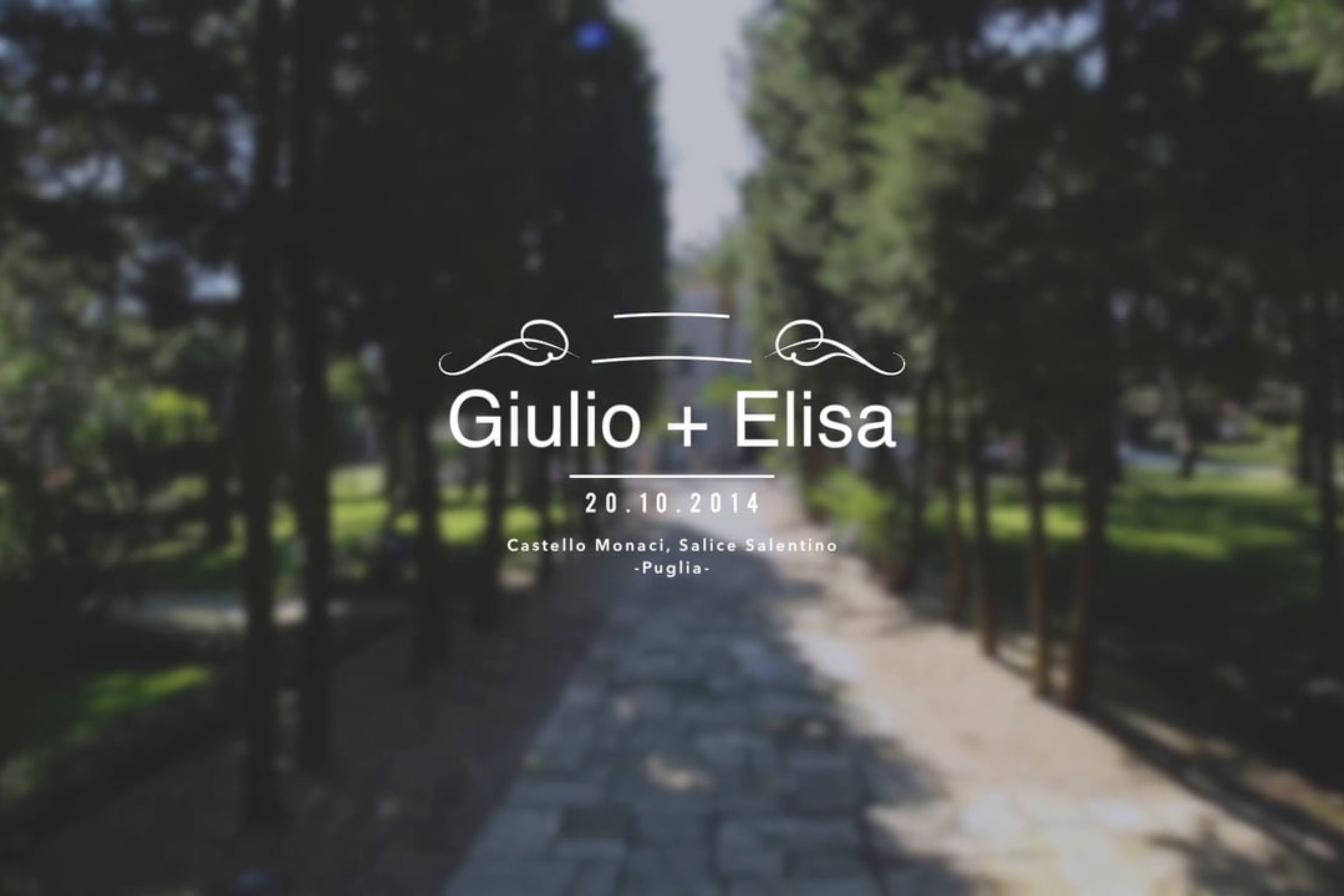 video trailer matrimonio Giulio + Elisa