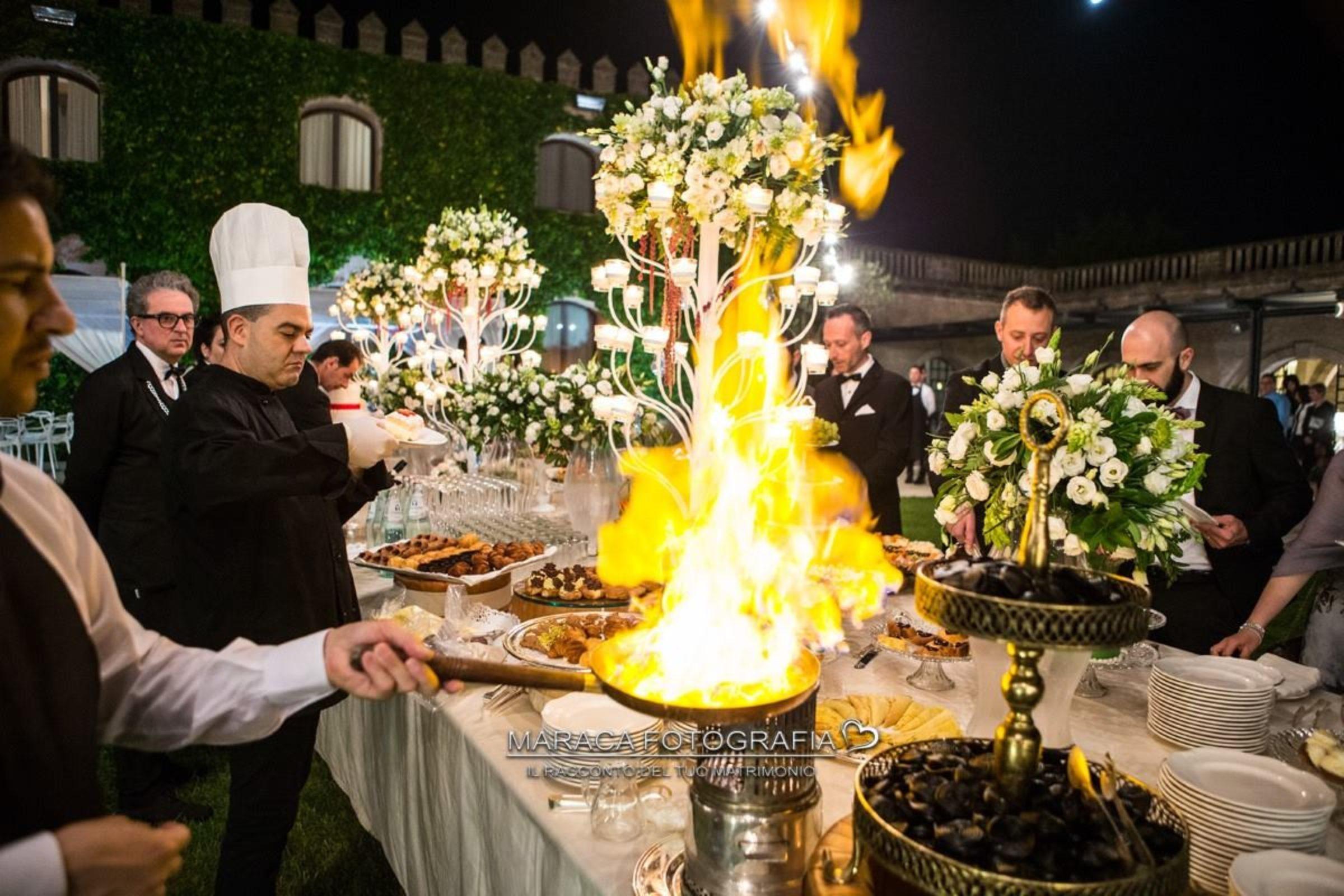 buffet e portate matrimoni a castello monaci